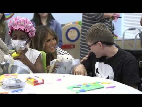 First Lady Melania Trump Visits Children's Hospital at St. Mary's Medical Center