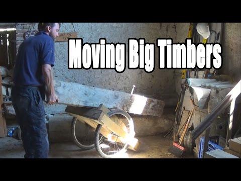 Moving big beams, A Timber Framers ballache