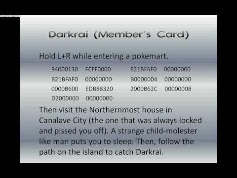 Pokemon Platinum: Event Codes