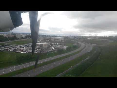 Landing in Reykjavik Domestic Air Iceland F-50