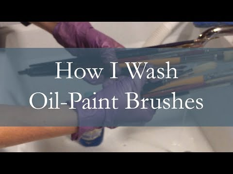 How I Clean Oil Painting Brushes