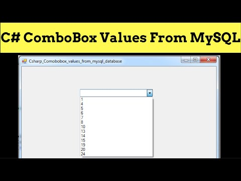 C# - How To Populate ComboBox From MySQL Database Values In C# [ with source code ]