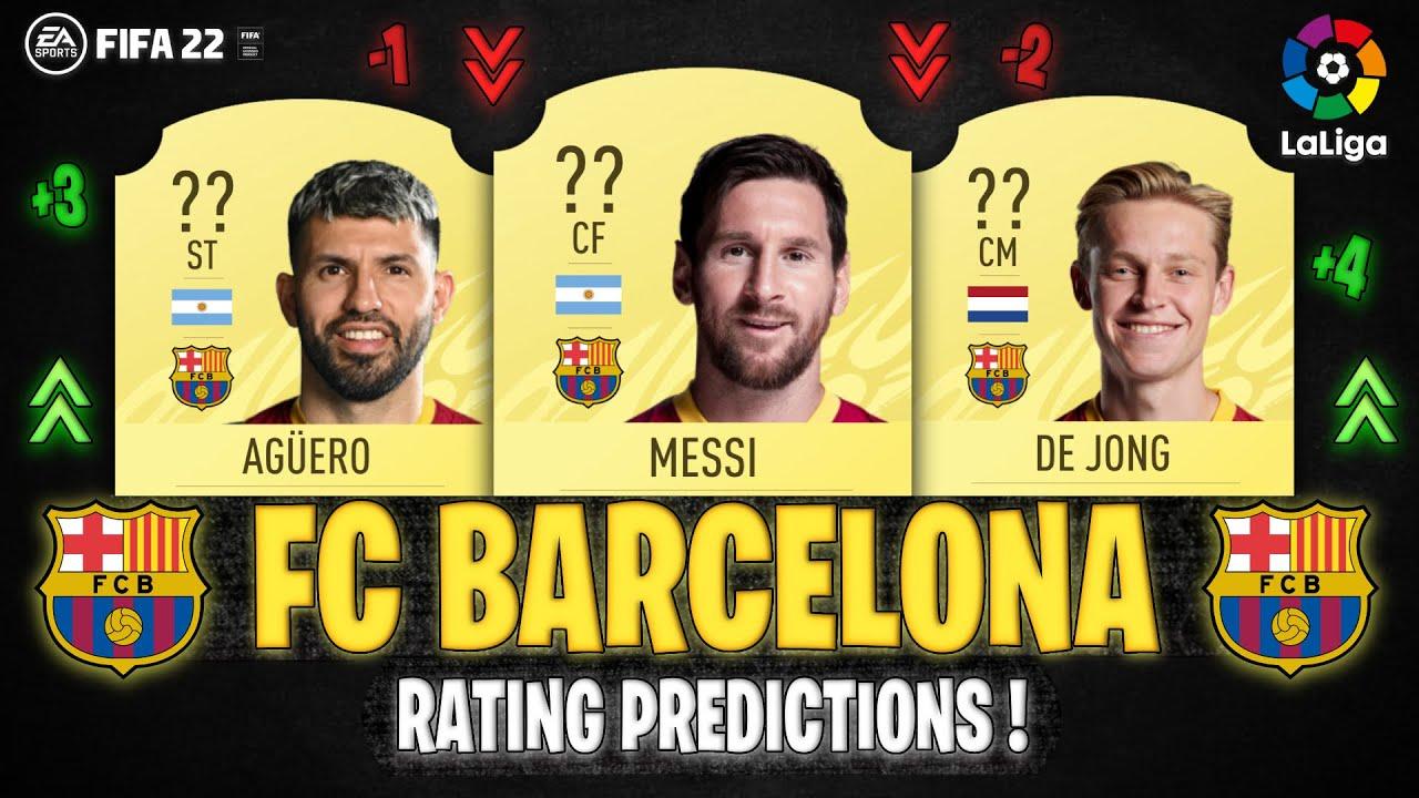 FIFA 22   BARCELONA PLAYER RATINGS! 😱🔥   FT. MESSI, AGÜERO, DE JONG... etc