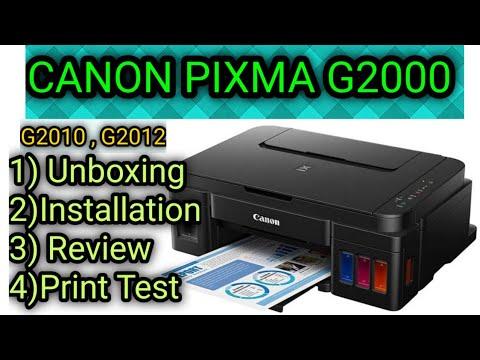 UNBOXING CANON G2000 PRINTER, SETUP & PHOTO PRINT TEST [HINDI