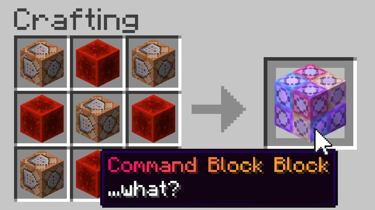Minecraft, But There Are Custom Command Blocks...