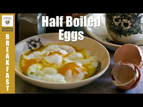 How to Make Perfect Half Boiled Eggs | Malaysian Chinese Kitchen