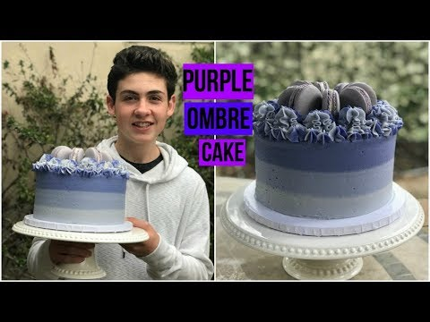 How To Make A PURPLE OMBRE CAKE - Baking With Ryan Episode 67