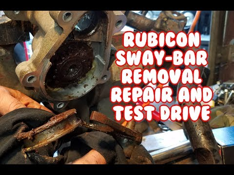 Sway Bar disconnect removal repair fix test Jeep Wrangler Rubicon Mopar