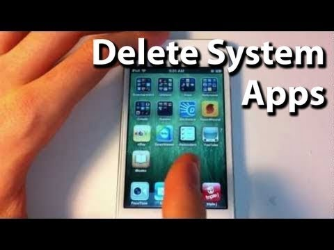 How To Remove Stock Apps From iPhone/iPod/iPad (No Jailbreak Required)