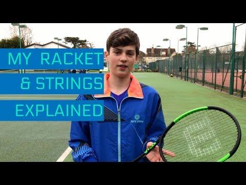 My Wilson racket & tennis strings explained 2018