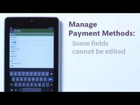 SmartHub: Add, edit, delete payment methods — Android