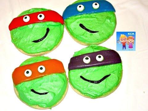 How to make Teenage Mutant Ninja Turtle Sugar Cookies