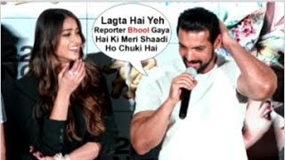John Abraham EMBARRASSED When Asked About DATING Ileana Dcruz At Pagalpanti Song Launch