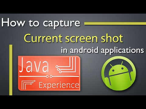 How to capture current screen in android