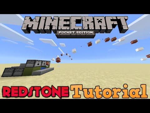 RapidFire Tnt Cannon!!-Minecraft PE Redstone Tutorial