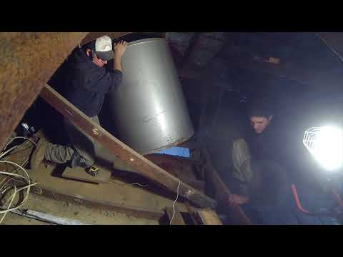 Part  5 Removing a gravity fed water tank