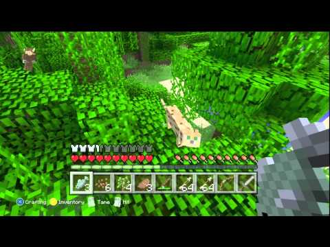 Minecraft Xbox 360 JUNGLE HUNT - Ocelots Ep. 1