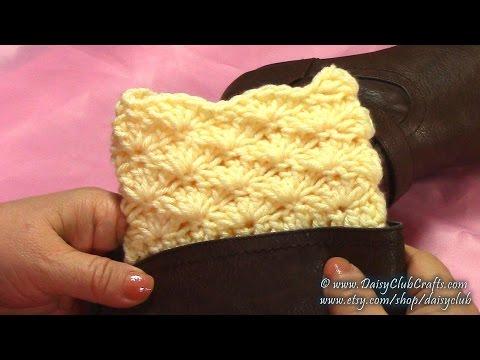 How To Crochet  Boot Cuffs, DIY, Tutorial
