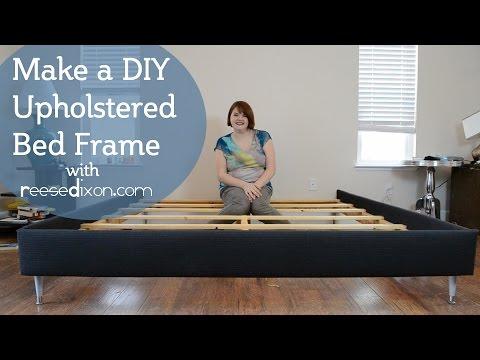 How to build a DIY upholstered bedframe