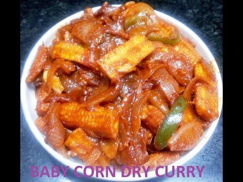 baby corn dry curry (Malayalam)