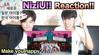 【NiziU (니쥬) 『Make you happy』 M/V】일본인이 한국어로 하는 K팝? J팝? 리액션!!