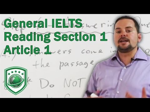 General IELTS Reading Section 1 Article 1 Example and Strategies for High Scores