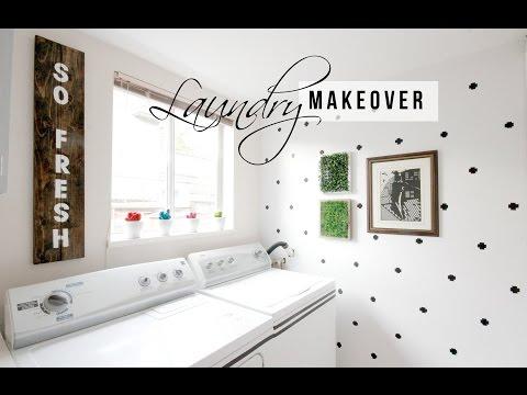 LAUNDRY ROOM MAKEOVER- EASY HOME DECOR IDEAS