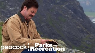 Ron Swanson Visits Lagavulin Distillery - Parks and Recreation