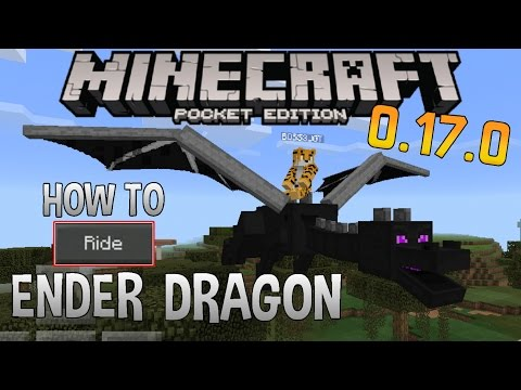 HOW TO RIDE ENDER DRAGON!! - MCPE 0.17.0 | Minecraft PE (Pocket Edition) 1.0 - Drivable Dragon Addon
