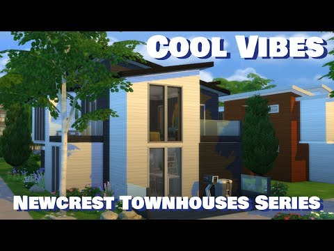 Sims 4 | House Building | Cool Vibes (Newcrest Townhouses)