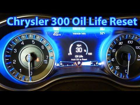 2015-2018 Chrysler 300 Oil Life Reset