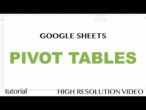 Google Sheets Pivot Tables - SUM, AVERAGE, MEDIAN, COUNT, COUNTA, COUNTUNIQUE  Functions Tutorial