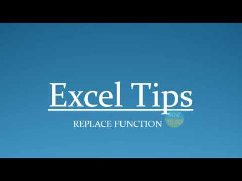 How To Use Replace Function In Excel