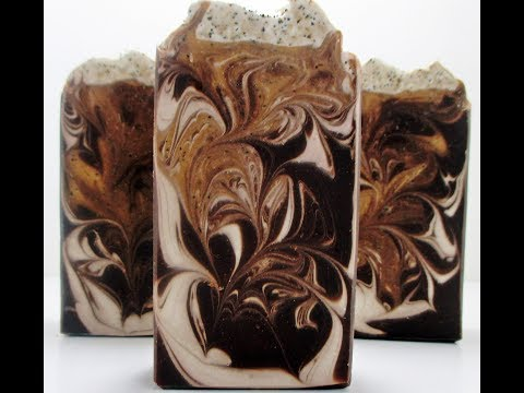 MAKING AND CUTTING COFFEE AND CREAM HANDMADE COLD PROCESS SOAP