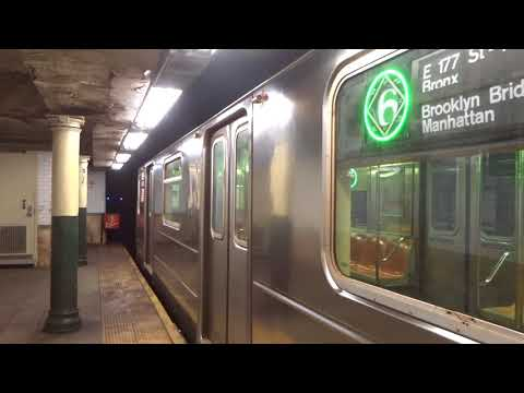 NYC Subway Special: Parkchester-bound R62A (6) Entering & Leaving Wall Street