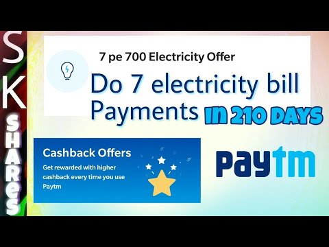 Get Rs 700 cashback by paying electricity bill using PayTM