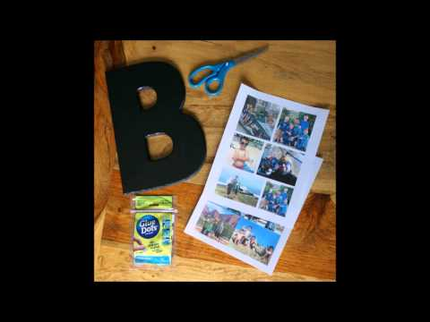 MyPrintly DIY Photo Collage Letter