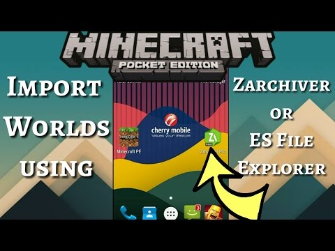 √ MCPE - How to Import Worlds using Zarchiver or ES File Explorerer