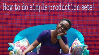 How to create simple production sets. My glasss of happiness. Kansiime Anne.