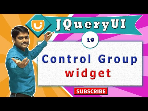 jQueryUI video tutorial 19 - Creating Control group Widget