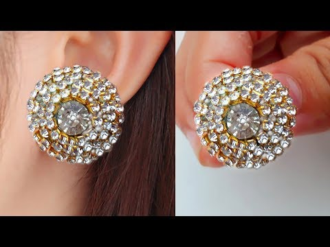 DIY: Latest stone ear tops at home Easy make//step by step tutorial