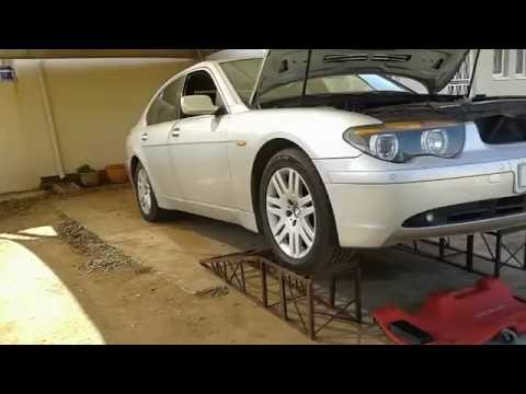 Crank shaft pulley replacement on 2003 BMW 730d E65, the easy way.