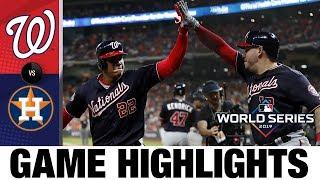 Stephen Strasburg, Anthony Rendon help Nats to World Series Game 7 | Nationals-Astros MLB Highlights