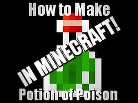 (**OLD**)How to make a splash potion of poison in MINECRAFT easy (HD)