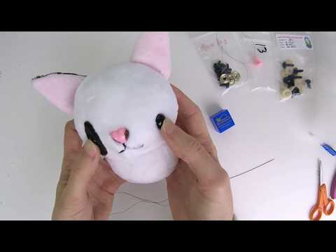 How to make plush: Needle sculpting plushie faces