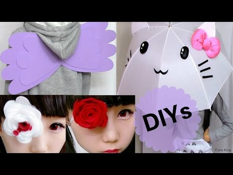 3 Easy Cosplay DIYs: DIY Wings + DIY Cat Umbrella/Parasol + DIY Felt Rose Eye Patch