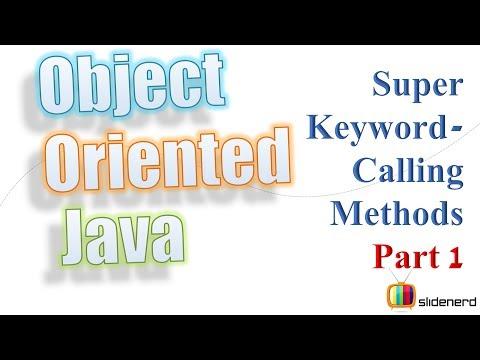 50 Java Super Keyword Calling Superclass Methods Part 1 |