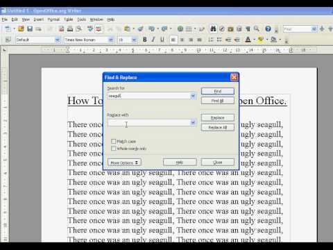 Open Office How To Find and Replace Words