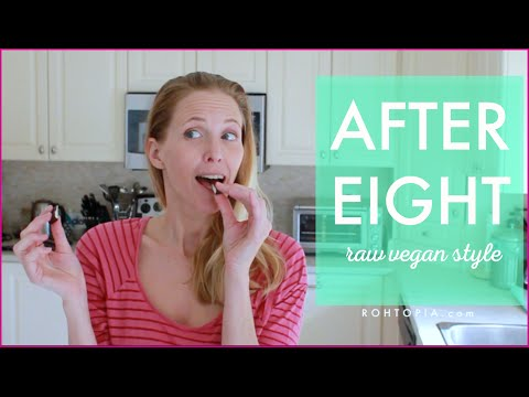 Recipe for After Eight Peppermint Patties, raw vegan style!