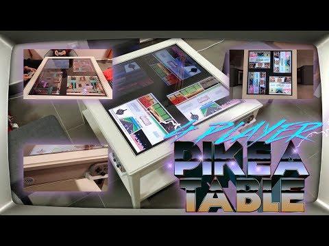 4 Player Arcade Table - Ikea Furniture Hack - Retropie